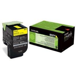 Lexmark Toner Lexmark 802y Yellow 1K