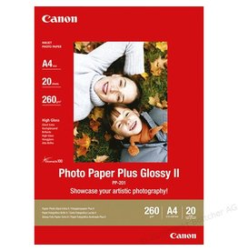Canon Fotopapier Canon pp201 A4 260gr Wit Glossy 20vel