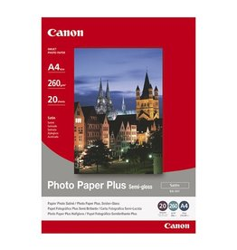 Canon Fotopapier Canon SG201 A4 260gr Wit Semiglossy 20vel