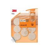 3M 3M beschermende vloerpads,uit vilt,diameter 25mm,blister 8st