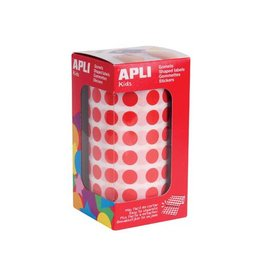 Apli Kids Apli Kids stickers op rol, cirkel diameter 10,5 mm, rood