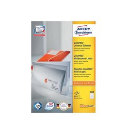 Avery Zweckform Avery witte etik. QuickPeel 97x67,7mm 800st 8 per bl, 100 bl
