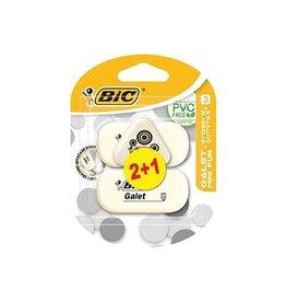 Bic Bic gum Galet 2 stuks + 1 gum Mini Fun gratis, op blister