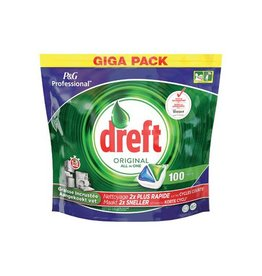 Dreft Dreft vaatwastabletten All in One Original,pak 100 tabletten