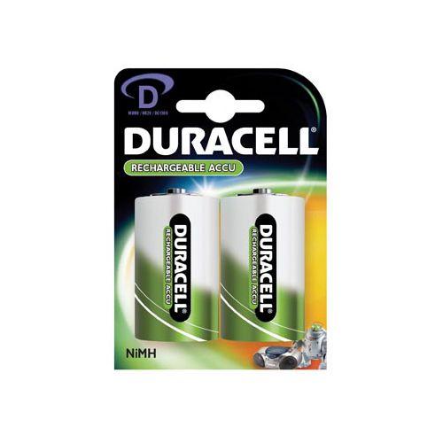 Batterij oplaadbaar Duracell 2xD 2200mAh staycharged