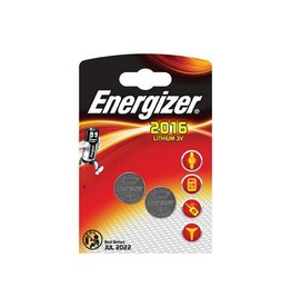 Energizer Energizer knoopcel CR2016, blister van 2 stuks