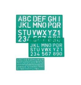 Linex Linex lettersjabloon set met 3 stuks, in een ophangetui