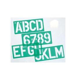 Linex Linex lettersjabloon van 50 mm, set van 4 stuks