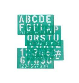 Linex Linex lettersjabloon 30 mm