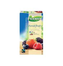Pickwick Pickwick thee, bosvruchten, fairtrade, pak van 25 stuks