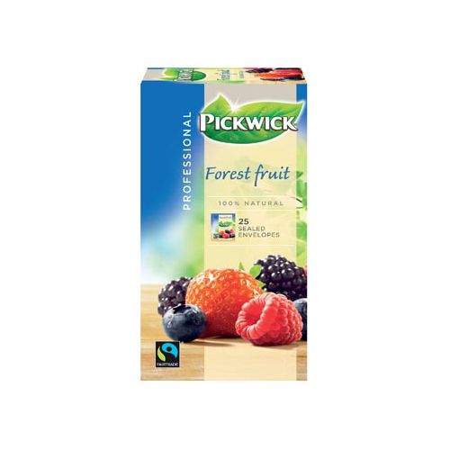 Pickwick thee, bosvruchten, fairtrade, pak van 25 stuks