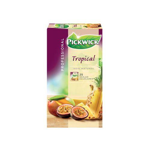 Pickwick thee, tropische vruchten, pak van 25 stuks