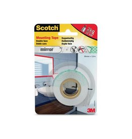 Scotch Scotch montagetape Mirror, 19 mm x 1,5 m, blisterverpakking