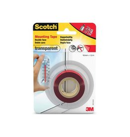 Scotch Scotch montagetapetransparent, 19mmx1,5m, blisterverpakking