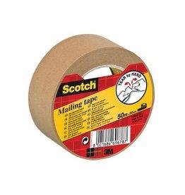 Scotch Scotch verpakkingsplakband, ft 50 mm x 50 m, papier, bruin