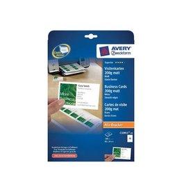Avery Avery visitekaarten 200 g/m² 85x54mm (10 per blad) 10bl