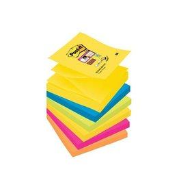 Post-it Post-it Super Sticky Z-Notes Rio, ft 76x76mm 90vel 6 blokken