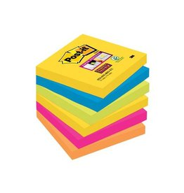 Post-it Post-it Super Sticky notes Rio, ft 76 x 76 mm, 90 vel, 6bl