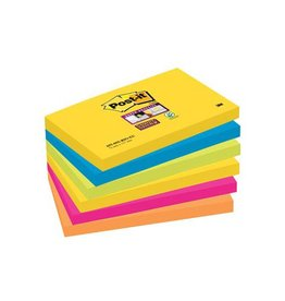 Post-it Post-it Super Sticky notes Rio, 76x127mm, 90vel, 6bl