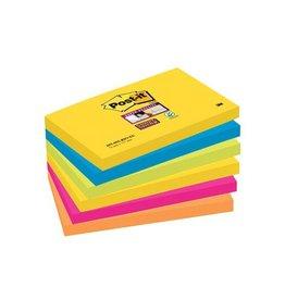 Post-it Post-it Super Sticky notes Rio,76x127mm,90vel,pak 6 blokken