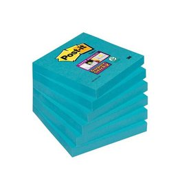 Post-it Post-it Super Sticky notes, 76x76mm electric blauw 90vel 6bl