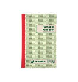 Exacompta Exacompta factuurboek, 21x13,5cm,tweetalig, tripli (50x3vel)