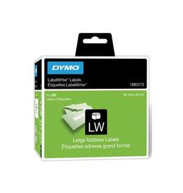 Dymo Dymo duurzame etiketten LabelWriter 89 x36 mm, 260 etiketten