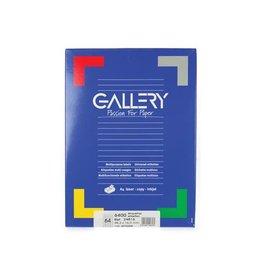 Gallery Gallery witte etik. 48,3x16,9 mm ronde hoeken, 6.400 etik.