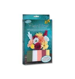 Folia Folia knutselset crêpe papier bloemen, 21-delig