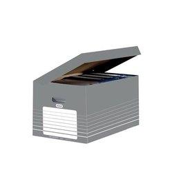 Elba Elba archiefcontainer, ft  34,5x45x28cm grijs en wit [10st]
