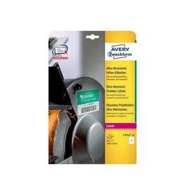 Avery Avery ultra resistente etiketten voor buiten 210x148mm, 20e.