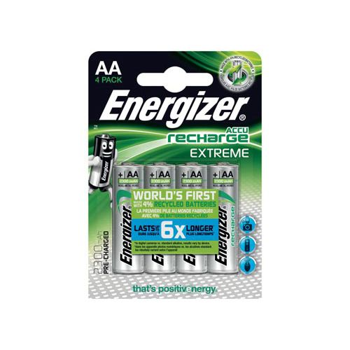 Energizer AA oplaadbare batterij (penlite) NiMH 1.2 V 2300 mAh 4 stuks