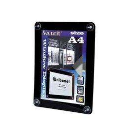 Securit Securit vitrine posterframe A4, zwart