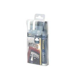 Securit Securit Waterproof krijtmarker medium zw/wit,blister met 4st