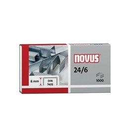 Novus Novus nietjes 24/6 DIN, doos met 1000 nietjes