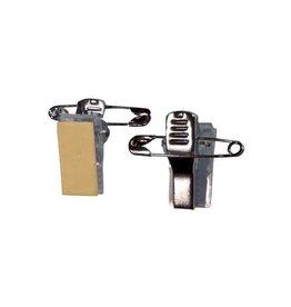 Badgy Badgy kleefbare clips met veiligheidspin, pak van 100 stuks