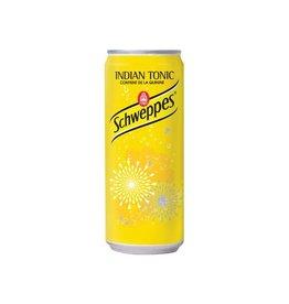 Schweppes Schweppes Indian Tonic frisdrank, blikje van 33 cl, 24st