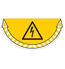 Take Care by CEP vloersticker, elektrische gevarenzone