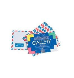 Gallery Gallery luchtpostenveloppen, 114 x162mm, gegomd,pak van 25st