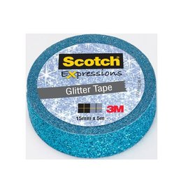 Scotch Scotch Expressions glitter tape, 15 mm x 5 m, blauw [18st]