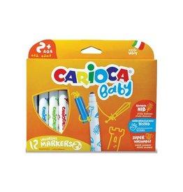 Carioca Carioca viltstifen Baby ophangbare doos met 12st in g.k.