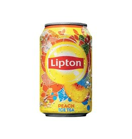 Lipton Lipton Ice Tea Perzik frisdrank, blik van 33 cl,pak van 24st