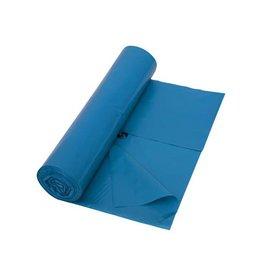 Merkloos Vuilniszak 42 micron, ft 65 + 50 x 135 cm, blauw,10 stuks