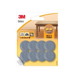 3M 3M Sliders,Move & Protect,diameter van 25mm,blister van 8st