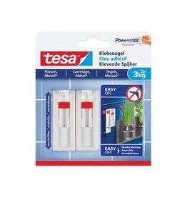 Tesa Tesa klevende spijker voor effen en solide ondergronden