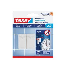 Tesa Tesa klevende spijker voor effen en solide ondergr. 2kg, 2st