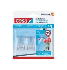 Tesa Tesa klevende haak voor tran. en solide ondergrond 1 kg, 2st