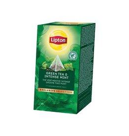 Lipton Lipton thee, Groene Thee Munt Exclusive Selection, 25 zakjes