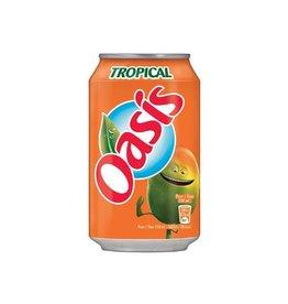 Oasis Oasis Tropical vruchtenlimonade, blik van 33 cl, 24st