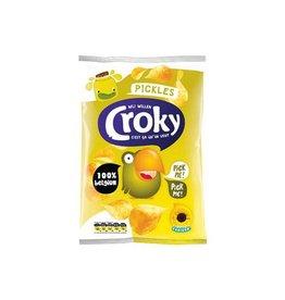 Croky Croky chips pickles, zakje van 100 gram [12st]